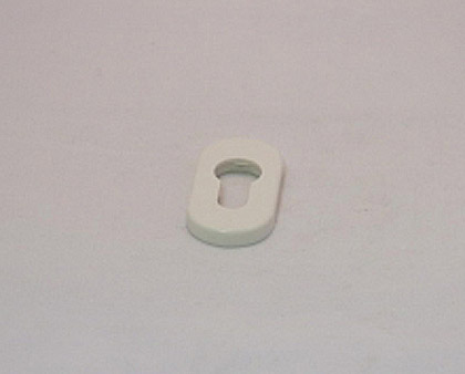 Накладка на замковый цилиндр, пластмассовая (белая)