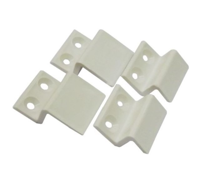 Z крепление для москитной сетки пластиковое (верх, низ) белое