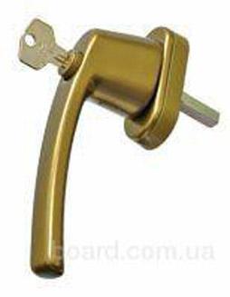 Ручка оконная Pluton с ключом, 35 мм